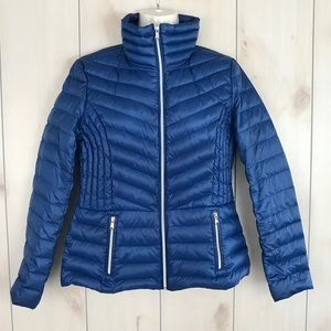 Kenneth Cole Reaction Blue Fitted Puffer Jacket M